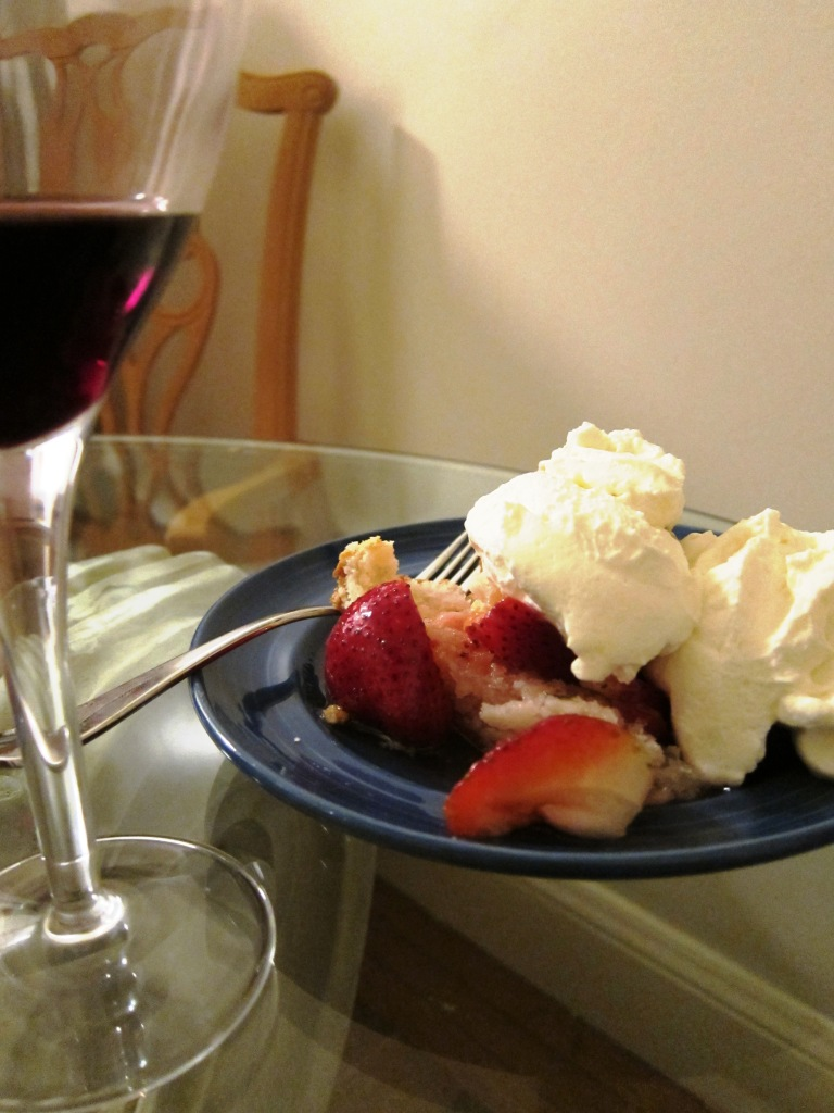 Pinot Noir and Strawberry Shortcake